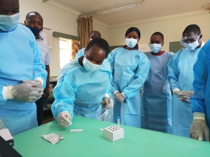 capacitating rural health facilities with rapid COVID-19 testing