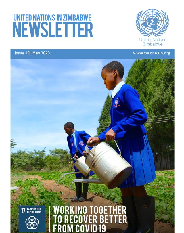 Publication cover - 19th Issue - UN in Zimbabwe Newsletter