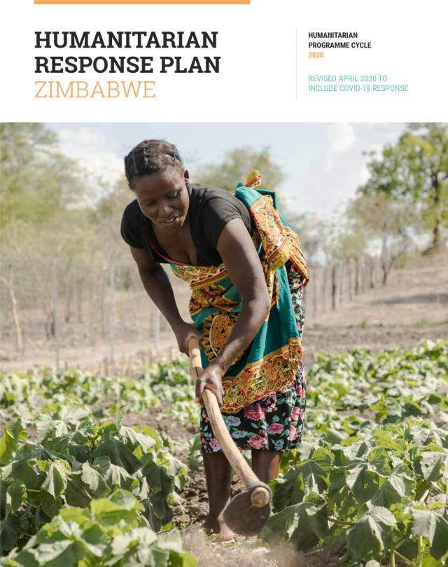 Publication cover - Zimbabwe Humanitarian Response Plan 2020